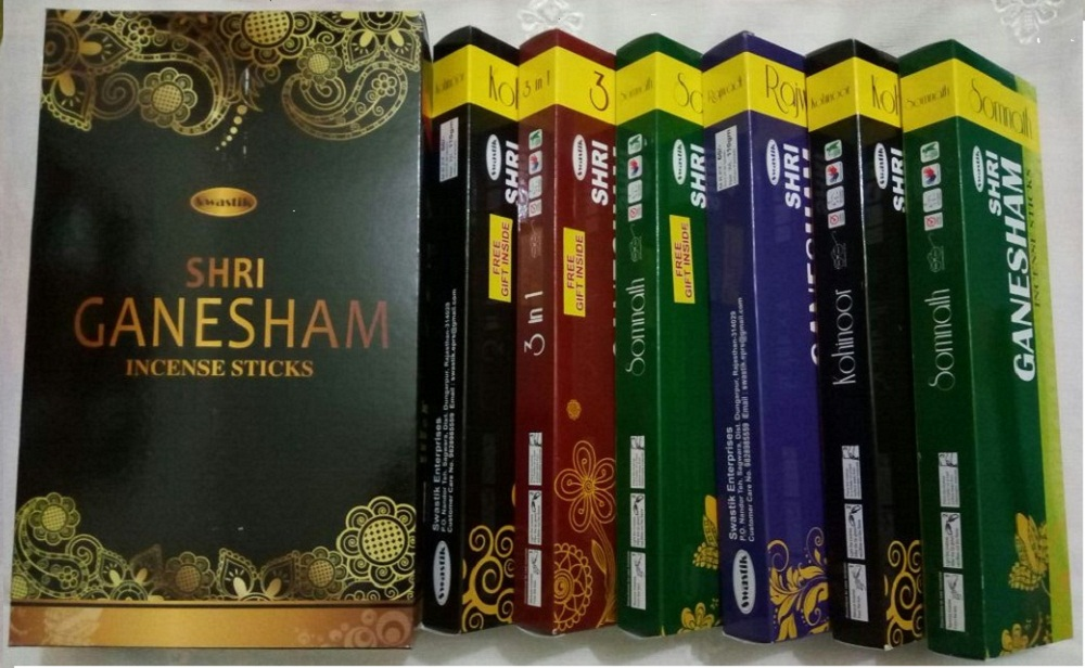 110 Gram X 6 Box  Mix In One Box + 660 Gram 9 Best Primium Quality Agarbatti  MRP - 360 Rupees Somnath - 3 IN 1 - Rajwadi - Kohinoor 4 Fragrance